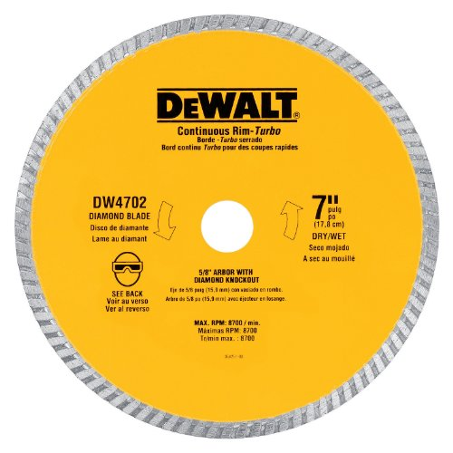 how to change a wet saw blade