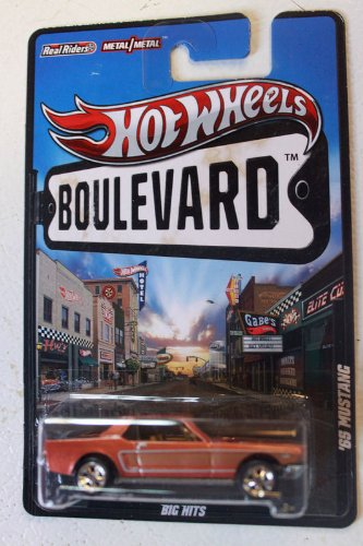 2012 Hot Wheels Boulevard Big Hits '65 MUSTANG 1:64 Scale Diecast Real Riders