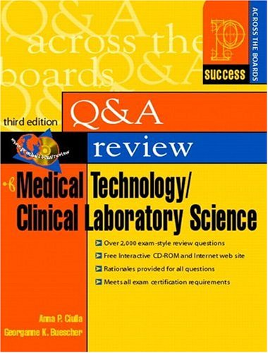Prentice Hall Health's Question and Answer Review of Medical Technology/Clinical Laboratory Science (3rd Edition) (Prentice Hall SUCCESS! Series)