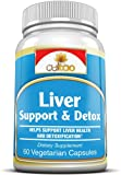Premium Liver Support & Detox Cleanse Supplements w/ Milk Thistle, N-Acetyl-Cysteine, Turmeric Root Extract, Dandelion Root Extract, Vitamin C & B And More - 100% Natural Complete Herbal Formula To Support Liver Health & Function - 60 Vcaps - Vegetarian Formula