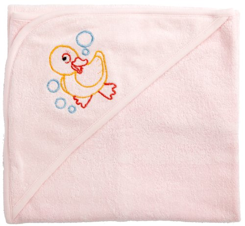 Funkoos Rubber Ducky Organic Baby Girl Hooded Towels, Girl, Infant/Baby