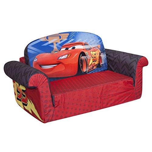 Flip Open Sofa Disney Cars Furniture Soft Children Kid Boy