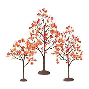 #!Cheap Department 56 Village Autumn Maple Trees, Set of 3