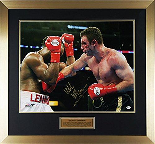 Firmata A Mano Vitali Klitschko Large Con cornice Boxe Stampa Fotografica - COA - Online Auth
