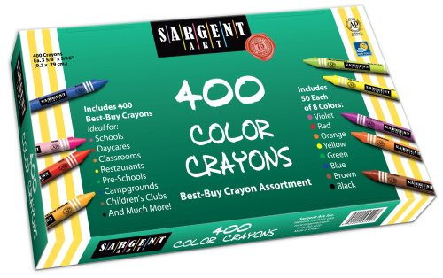 Sargent Art 55-3220 Best-Buy Assortment Crayon 3-5/8-Inch 400-Count