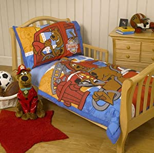 warner bros scooby doo toddler bedding 4pcs scooby to