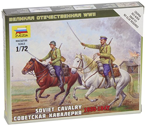 Zvezda Models 1/72 Soviet Cavalry WWII Snap Kit New Tooling