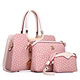 Coofit® Damen Mode PU Leder Henkeltasche Handtasche Umhängetasche Tasche 3PCS Set