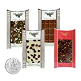 Chocholik Belgium Chocolate Gifts - Heavenly Combination Of Belgian Chocolate Bars With 5gm Pure Silver Coin -...