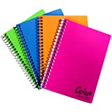 Norcom COLORZ Assignment Book, 7 x  5 inches, 4 Assorted Colors, 1 Book per Order, Color May Vary (77388-12)