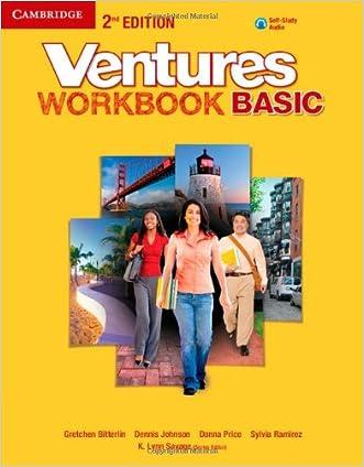 Ventures Basic Workbook with Audio CD written by Gretchen Bitterlin