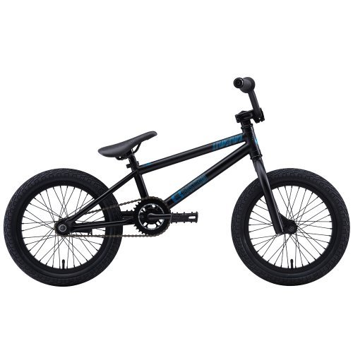 Eastern Bikes 116 Lowdown 2013 Edition BMX Bike with Black Rim (Matte Black, 16-Inch)