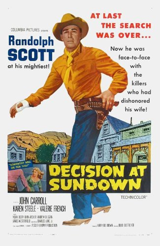 Decision At Sundown 11x17 Movie Poster (1957)