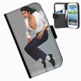 Hairyworm-Michael Jackson Samsung Galaxy S3 Mini leather side flip wallet case case for Samsung Galaxy S3 Mini phone