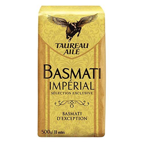 Taureau Ailé - Riz basmati impérial sélection exclusive - Le paquet de 500g - (pour la quantité plus que 1 nous vous remboursons le port supplémentaire)
