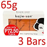 Kojie San Skin Lightening Kojic Acid Soap 3 Bars - 65g