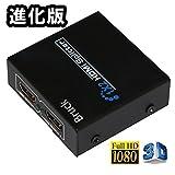 期間限定セール 1入力2出力 対応 HDMI 分配器 スプリッター フルハイビジョン 3D対応 金メッキ仕様 日本語説明書付き ゲーム録画 PS3 WiiU 【Bruck】