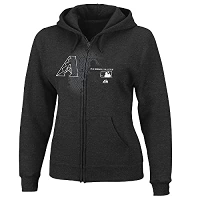 MLB Arizona Diamondbacks Women's Change Up Full-Zip Hooded Fleece Jacket, Black