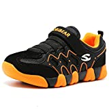 HOBIBEAR children Outdoor Strap Athletic Sneakers Running Shoes AS3209(12.5M,Orange/Black)