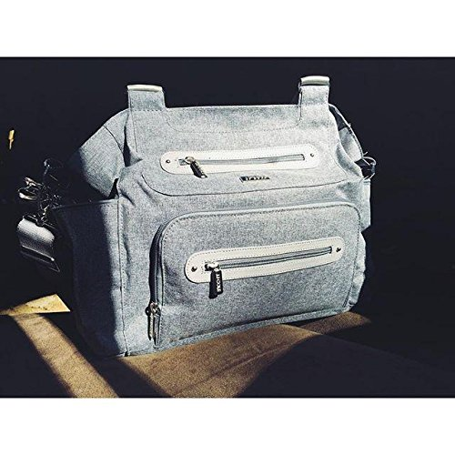 jj cole caprice diaper bag gray heather ebay. Black Bedroom Furniture Sets. Home Design Ideas