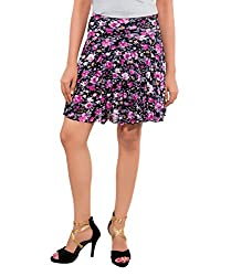Feminine Women Pink Fit And Flare Skirt