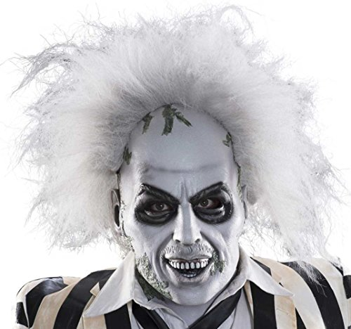 Rubie's Costume Men's Beetlejuice Overhead Latex Mask with Hair, Multi, One Size