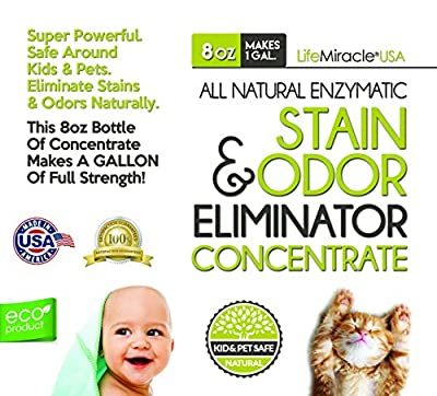 Enzyme Cleaner Concentrate - The #1 BEST All-Natural Household Cleaner. Pet Stain Remover, Odor Eliminator and Neutralizer, Best Carpet Cleaner and Clothing Spot Remover. Use Virtually Anywhere Including Bathroom, Kitchen and Outside. Non-Toxic, Allergy F