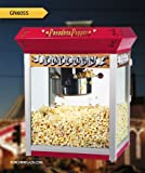 Great Northern Red Antique Style Popcorn Popper Machine w/Cart 8 Ounce 8 Oz