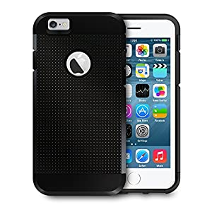 iPhone 6 Case, Mpow® Tough Armor Case for iPhone 6 (4.7-Inch) - Double Layer Shock Absorbing Cover - Black