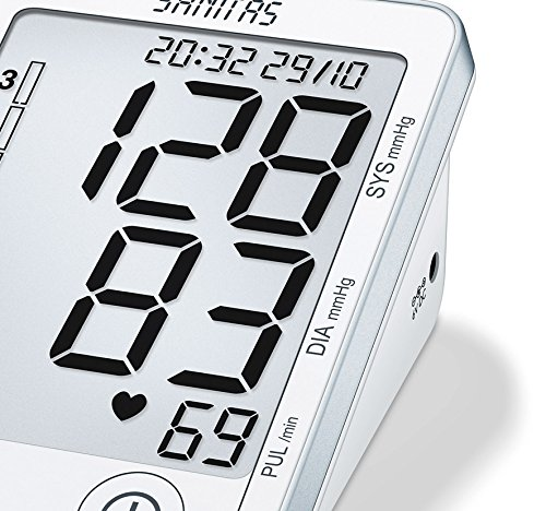 Sanitas SBM 50 Blutdruckmessgerät Oberarm, Weiß-Silber - 4