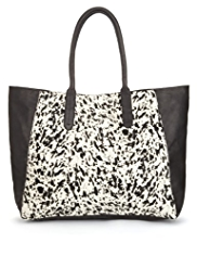 Autograph Leather Monochrome Slouch Shopper Bag