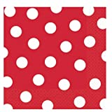 Red Polka Dot Lunch Napkins (36 count)
