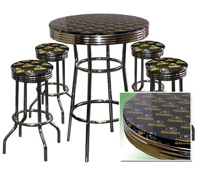 Incredible Shop For Pittsburgh Steelers 5 Piece Chrome Glass Pub Bar Uwap Interior Chair Design Uwaporg