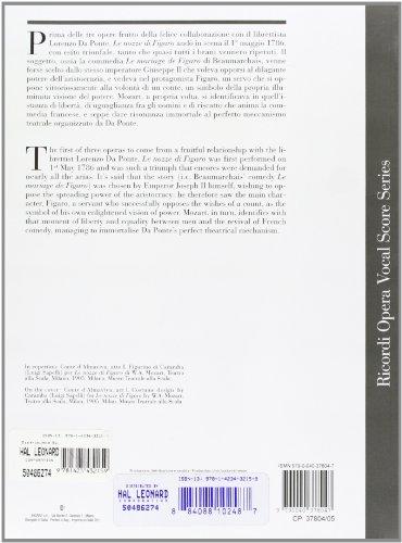 Le Nozze Di Figaro: Opera Completa Per Canto E Pianoforte (Ricordi Opera Vocal Score)