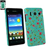 Emartbuy® LCD Screen Protector And Rose Garden Clip On Protection Case/Cover/Skin For Huawei Ascend Y300