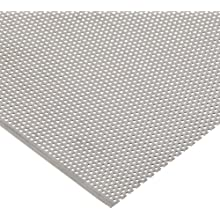 304 Stainless Steel Perforated Sheet, Solid, Unpolished (Mill) Finish, Inch, Staggered