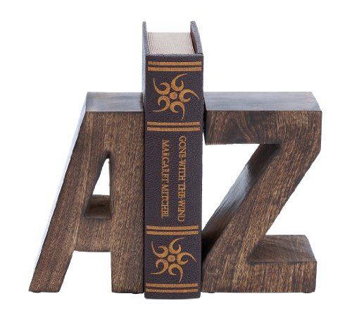 Deco 79 Wood Poly-Stone Bookend, 8 by 5-Inch, Black