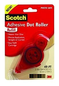 Scotch Adhesive Dot Roller Refill, 0.31 x 49 Feet (6055-R)