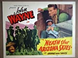 img - for HM23 Neath Arizona Skies JOHN WAYNE Title Lobby Card. This is a lobby card NOT a video or DVD. Lobby cards were displayed in movie theaters to advertise the film. Lobby cards measure 11 by 14 inches. book / textbook / text book
