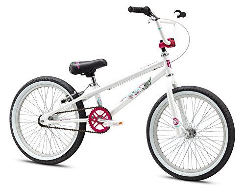 Mongoose Girl's LSX Bicycle, 20-Inch, White (Bikes For Girls 20 Inch compare prices)