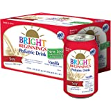 Bright Beginnings Soy Pediatric Nutritional Drink, Vanilla, 8oz Cans 6-Count, (Pack of 4) ~ Bright Beginnings