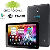 "Indigi® 7.0"" Fastest Dual-Core Black Android 4.2 Tablet PC HDMI Google Play Leather Back"