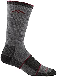 Darn Tough Men\'s Merino Wool Hiker Boot Sock Full Cushion Socks, Charcoal, X-Large