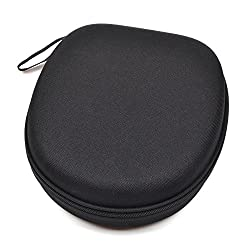 Case Star Black Color Hard Shell Large Carrying Headphones Case / Headset Travel Bag for SONY MDR-ZX100 ZX110 ZX300 ZX310 ZX600 MDR-10RBT Headphones / Audio Technica Headphone with Space for Cable AMP Earpads iPod Parts and other Accessories