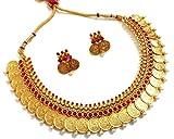 Divinique Jewelry Enchanting Magenta Temple necklace set