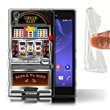 STUFF4 Gel TPU Phone Case Cover for Sony Xperia T3 Machine Design Slot Machine Collection