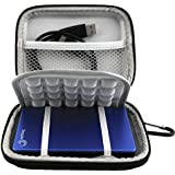 Lacdo Waterproof Hard EVA Shockproof Carrying Case Pouch Bag for Seagate Backup Plus Slim 2TB 1TB / Western Digital WD My Passport Ultra 1TB 2TB / Toshiba Stor.E Basics / Canvio / Samsung M3 Slimline P3 / 2.5 inch Portable External Hard Drive