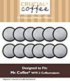 12 Mr. Coffee Charcoal Water Filters, Fits WFF-3 Coffeemakers, Compare to Part # 113035-001-000, Designed & Engineered by Crucial Coffee