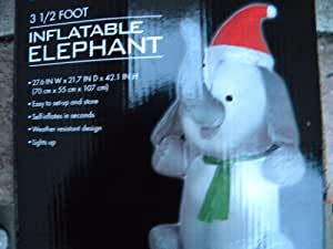 3.5ft Christmas Elephant Airblown Inflatable