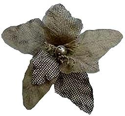 Renaissance 2000 Single Burlap Flower, Natural